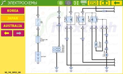 Пример просмотра электросхемы во встроенной справке Carman Scan VG