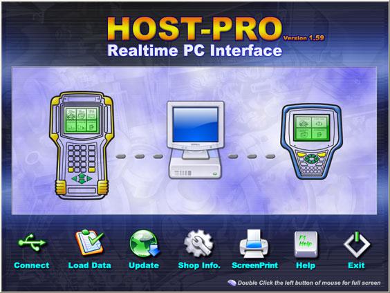 Главное окно программы Host-Pro